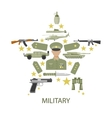Army Star Composition vector image