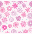 Abstract seamless pattern with flowers vector image
