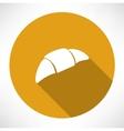 croissant icon vector image
