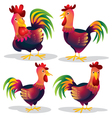 cute chicken cartoon vector image