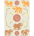 Festive typical indian elephant background vector image
