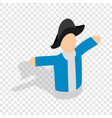 hand puppet isometric icon vector image