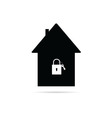 house with a padlock vector image
