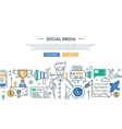 modern social media promotion line vector image