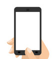 photograph on smartphone hand holding screen vector image