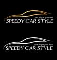 Speedy card logo vector image