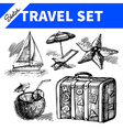 Travel and holiday set vector image