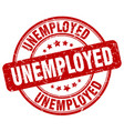 unemployed stamp vector image