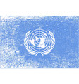 united nations flag grunge vector image