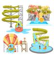 Colorful Aquapark Set vector image