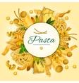 Italian pasta spaghetti and macaroni banner vector image vector image