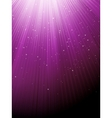 purple luminous rays background vector image