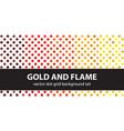 polka dot pattern set gold and flame seamless vector image