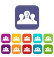 group of people with unknown personality icons set vector image