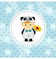 baby boy in suit of panda vector image