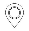 sign location black color icon vector image