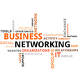 word cloud business networking vector image