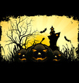 Grunge Halloween Party Background vector image vector image