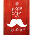 keep calm and hohoho vector image vector image