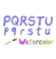 Watercolor font vector image