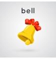 Ringing golden bell vector image