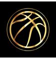 Golden Basketball Icon vector image