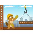 beaver mounter build metal construction vector image