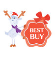 best buy sticker for christmas sale vector image