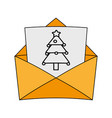 christmas letter design vector image
