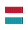 large shipping containers vector image