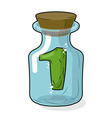 Number 1 in bottle for experiments Figure in vector image