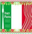 pasta pattern vector image