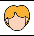 People avatar face women icon vector image