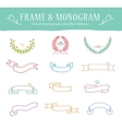 Ribbons Vintage Set - Isolated On White Background vector image