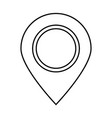 sign location black color icon vector image