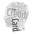 The Course Of The Credit Cards What Can People Do vector image