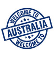 welcome to australia blue stamp vector image