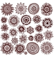 Set of beautiful ornaments vector image