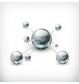 Molecule icon vector image vector image