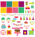 Happy Birthday and Party Set vector image vector image