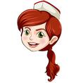 A head of a nurse vector image