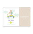 Baby Shower Card with Photo Frame vector image
