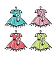 Baby dress on hangers for your design vector image vector image