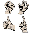 various hands vector image vector image