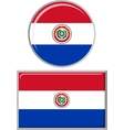 Paraguayan round and square icon flag vector image