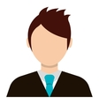 Businessman profile colorful avatar over white vector image