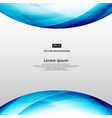 abstract blue square lines world curve footer vector image