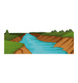 beautiful river landscape vector image