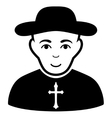 Christian Priest Flat Icon vector image