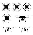 drone set in black color vector image
